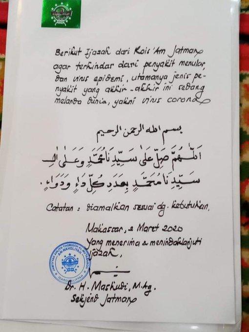 Ijazah Penangkal Virus Corona dari Habib Lutfi
