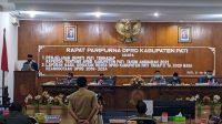 Jajaran DPRD Pati saat rapat paripurna Senin (5/10)